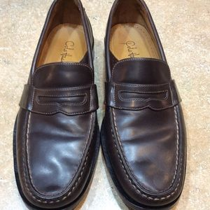 COLE HAAN BROWN LEATHER PENNY LOAFER